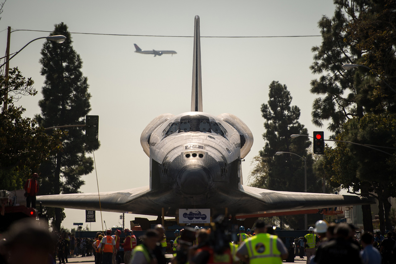 Image of Space Shuttle Endeavour&#039;s Transition into Retirement
