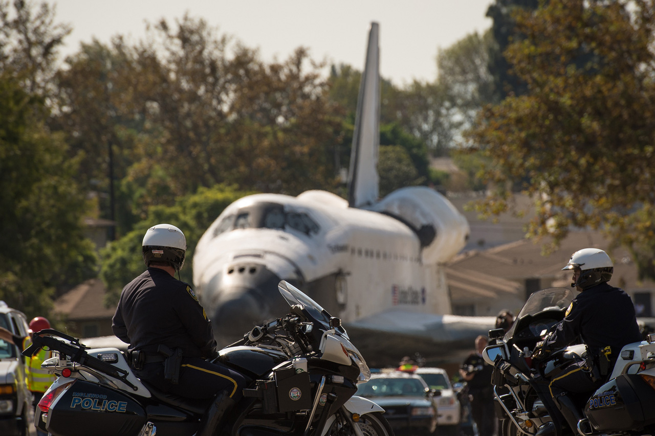Image of Space Shuttle Endeavour's Transition into Retirement