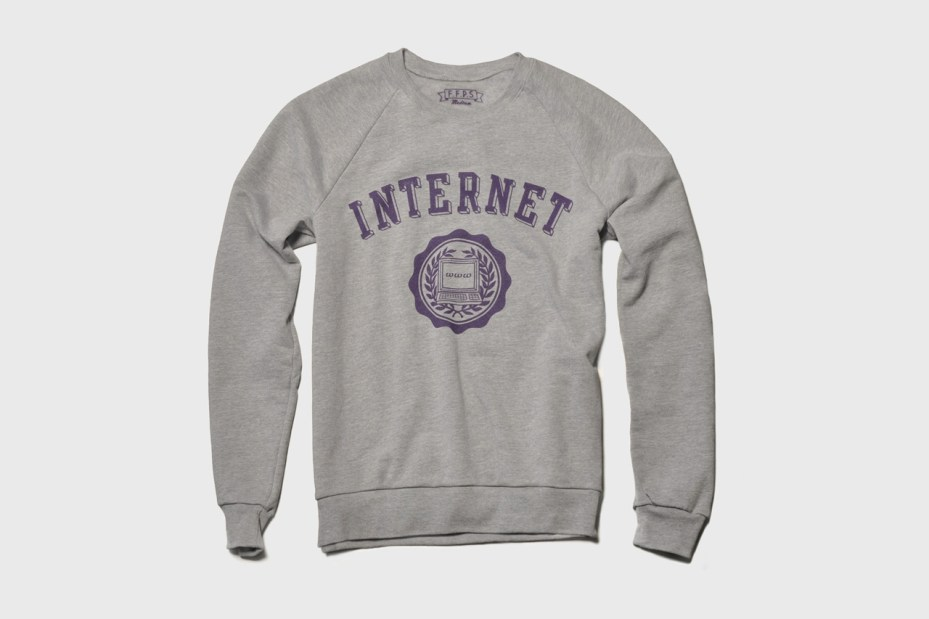 Image of The Fourth Floor Print Shop INTERNET Sweatshirt