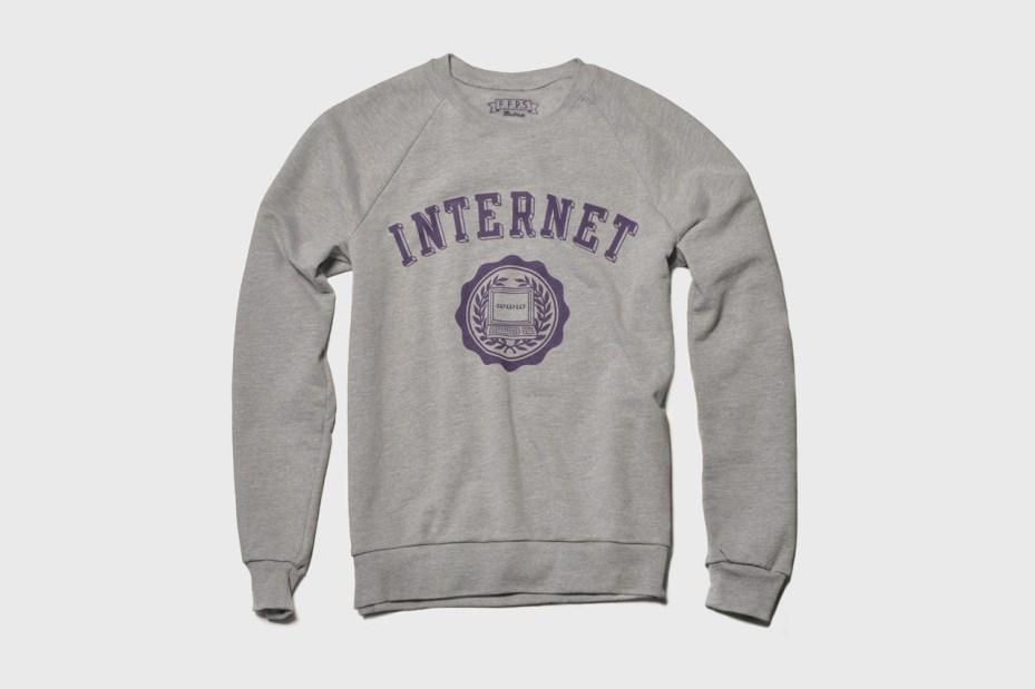 Image of The Fourth Floor Print Shop INTERNET Sweatshirt