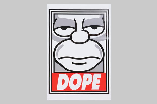 "Image of The Simpsons x Shepard Fairey ""Dope"" Poster"