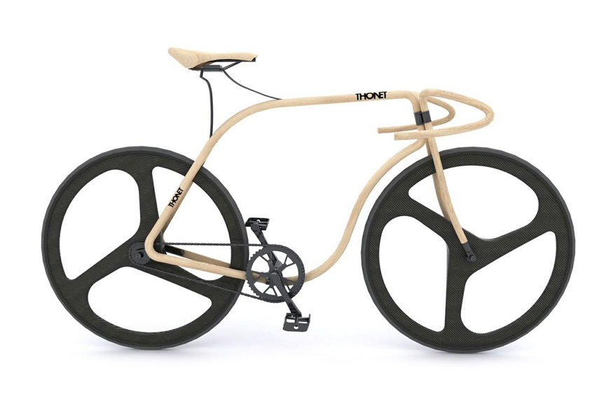 Image of Thonet and Andy Martin Craft a Bike Out of Beech Wood
