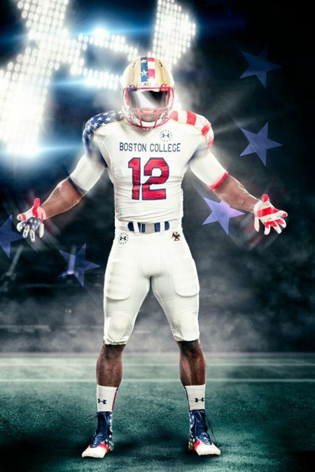 "Image of Boston College x Under Armour ""Freedom"" Football Uniforms"