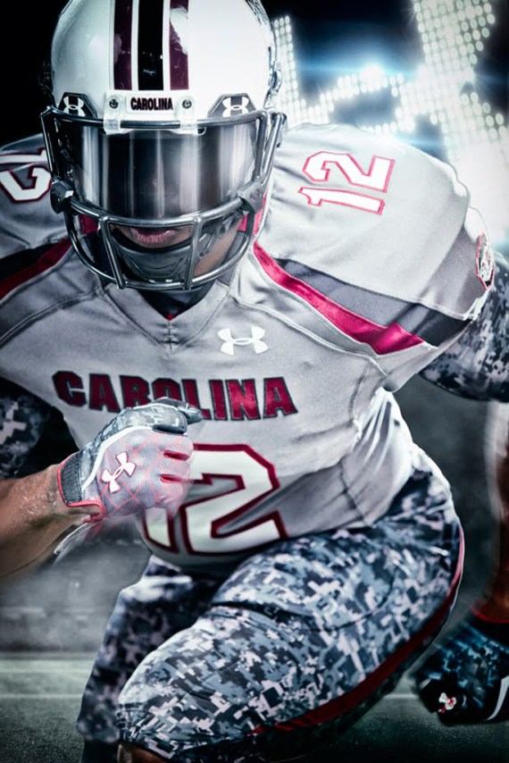 "Image of Under Armour x South Carolina Custom ""Battle"" Football Uniforms"