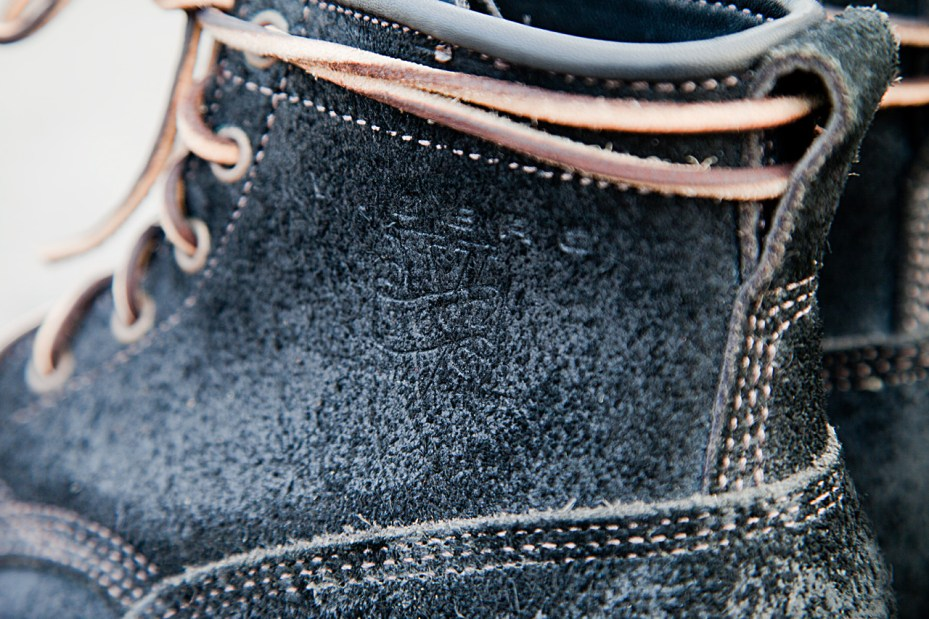 Image of Viberg Black Oil Rough Out Bobcat Suede Boots