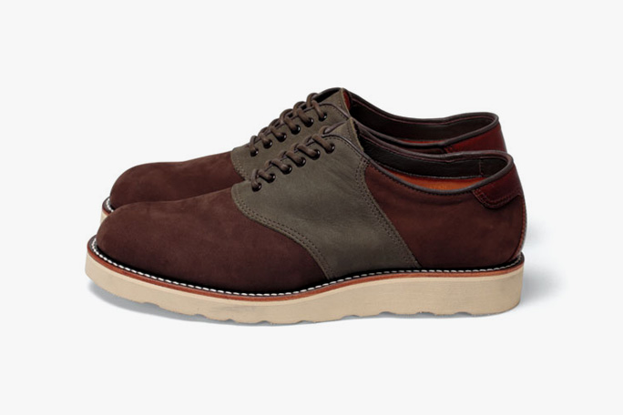 Image of WTAPS SADDLE SHOES / SHOES. LEATHER. COW