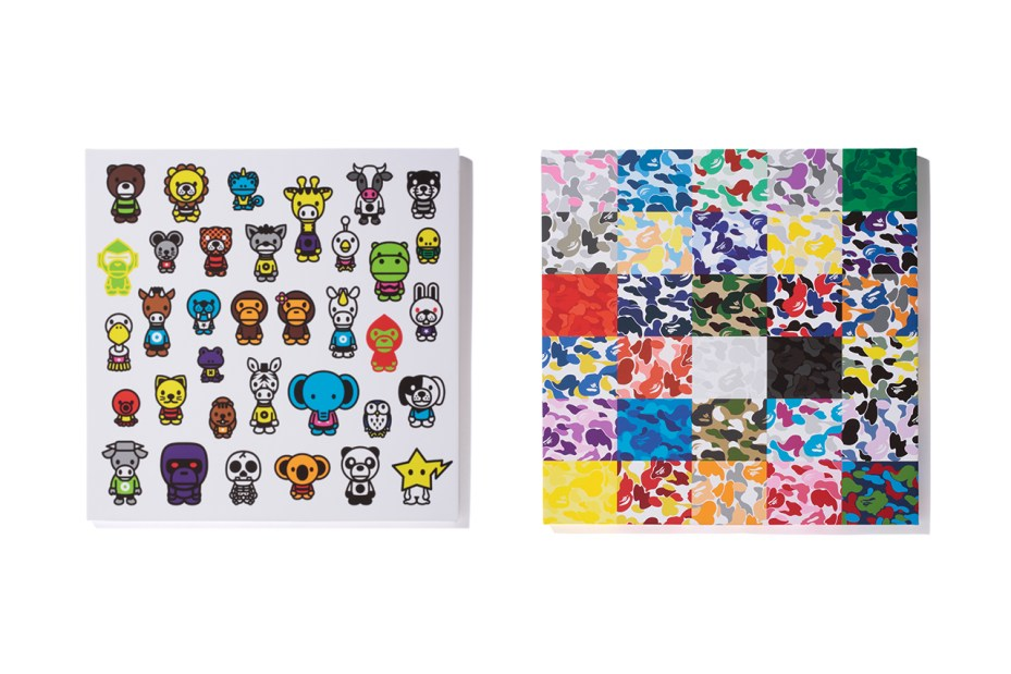 "Image of A Bathing Ape 2012 ""BAPE SHOP CAMO CANVAS"" & ""MILO A to Z CANVAS"""
