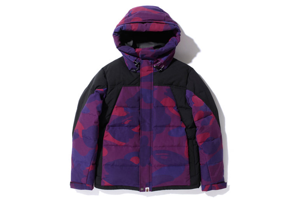 Image of A Bathing Ape ZOOM COLOR CAMO 2TONE HOODIE DOWN JACKET