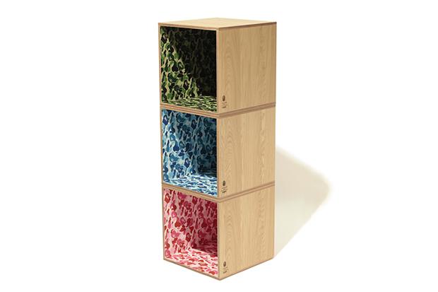 Image of BAPE x Medicom x Karimoku ABC Camo Square Shelf