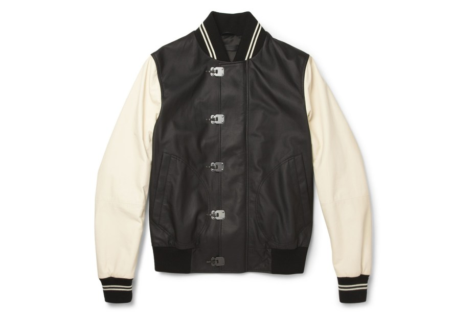 Image of Bottega Veneta Leather Varsity Jacket