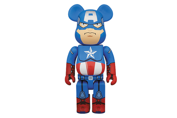 Image of Captain America x Medicom Toy 400% Bearbrick