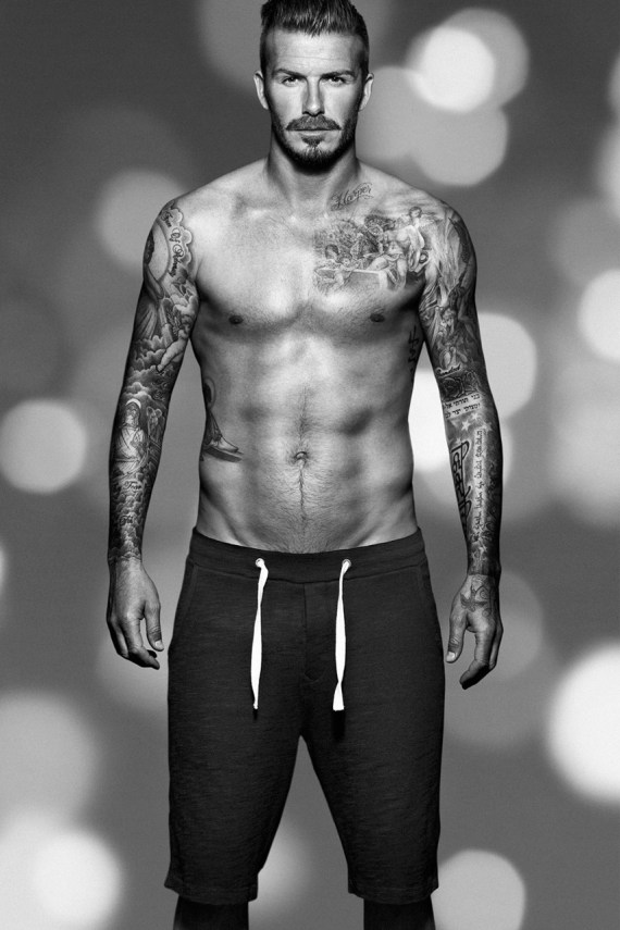 Image of David Beckham for H&amp;M Christmas Campaign