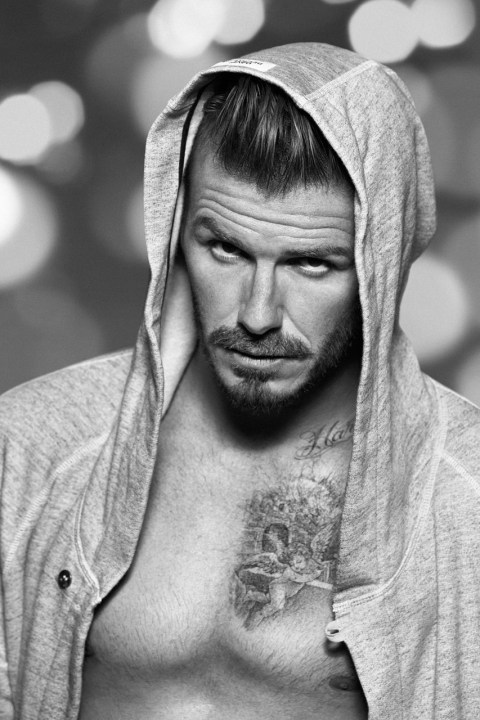 Image of David Beckham for H&M Christmas Campaign