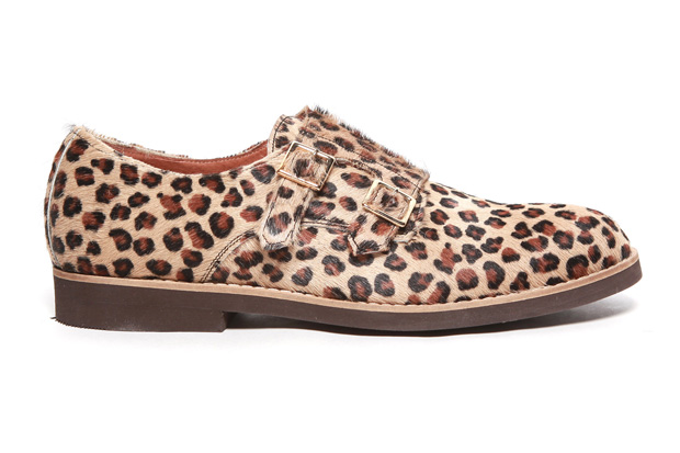 Image of Del Toro Leopard Pony Hair Double Monkstrap