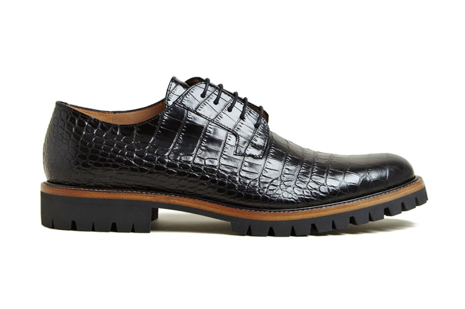 Image of Dries Van Noten Patterned Leather Oxford Shoes