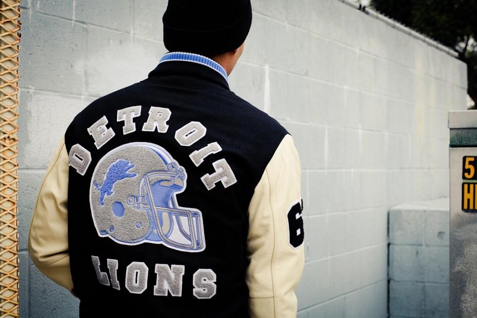 "Image of G-III ""Axel Foley"" Detroit Lions Varsity Jacket"