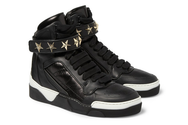 Image of Givenchy Star-Detail Leather High-Top Sneaker