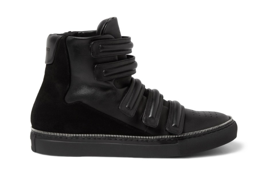 Image of Givenchy Zip Trim High-Top Sneakers