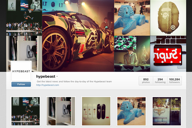 Image of HYPEBEAST Instagram's Web Profile Is Now Online