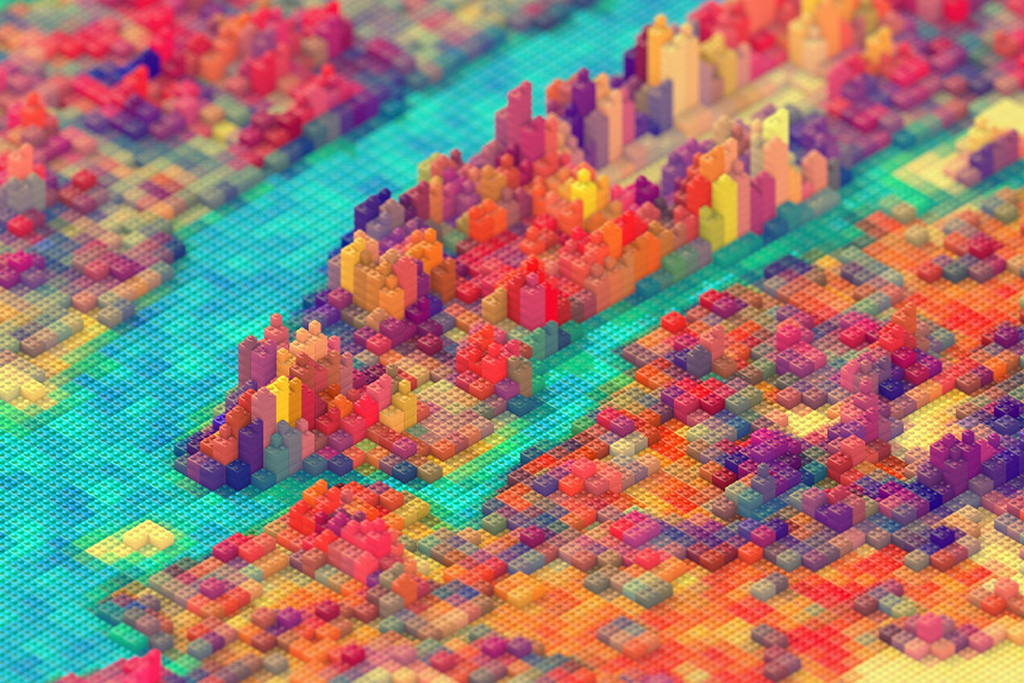 Image of JR Schmidt Replicates New York City in LEGOs