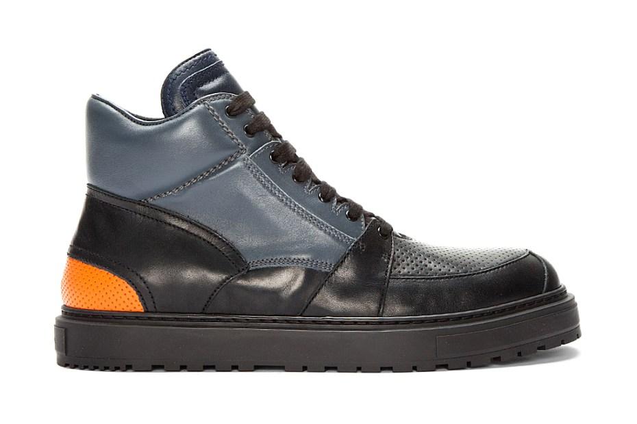 Image of Kris Van Assche Perforated Boot Sneakers