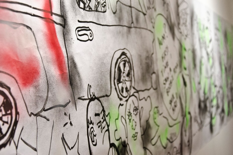 """Image of Mark Gonzales """"One Week, One Show"""" @ The Church of London Recap"""