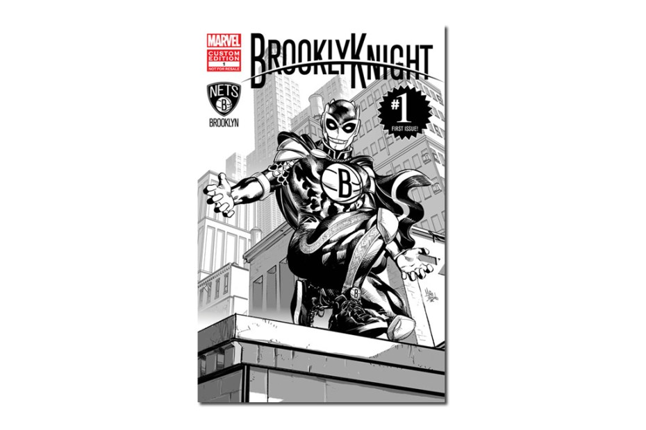 Image of Marvel and the Brooklyn Nets Unveil First Super Hero in NBA History