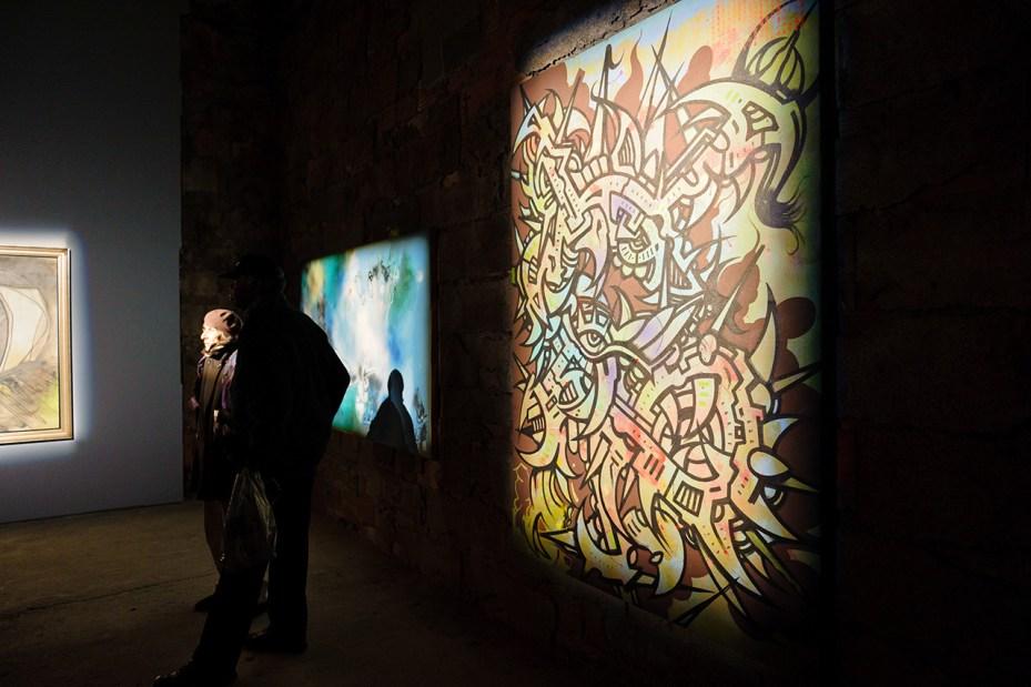 "Image of Matta, Rammellzee, Futura and Phase 2 ""Deep Space"" Exhibition @ Joseph Nahmad Contemporary Recap"