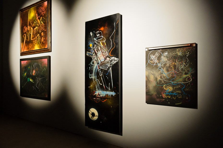 "Image of Matta, Rammellzee, Futura and Phase 2 ""Deep Space"" Exhibition @ Joseph Nahmad Contemporary Recap"