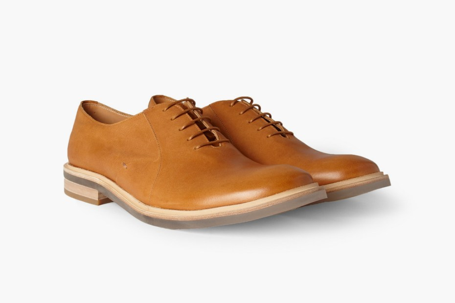 Image of Maison Martin Margiela Clear Sole Leather Oxford Shoe