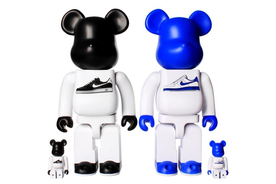 Image of Nike x Medicom Toy 400% & 100% AF1 Bearbrick