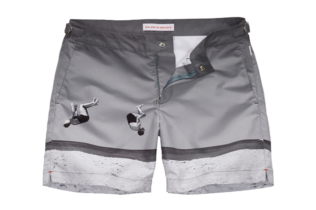 "Image of Orlebar Brown ""Summer-Sault"" George Caddy Swim Shorts"