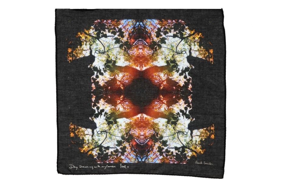 "Image of Paul Smith ""Day Dreaming with My Camera"" Scarf and Pocket Square Collection"