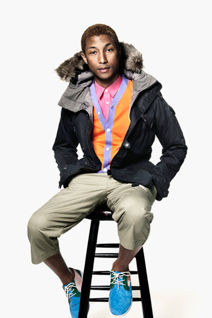 Image of Pharrell Williams Featured in the 2012 December Issue of American Vogue