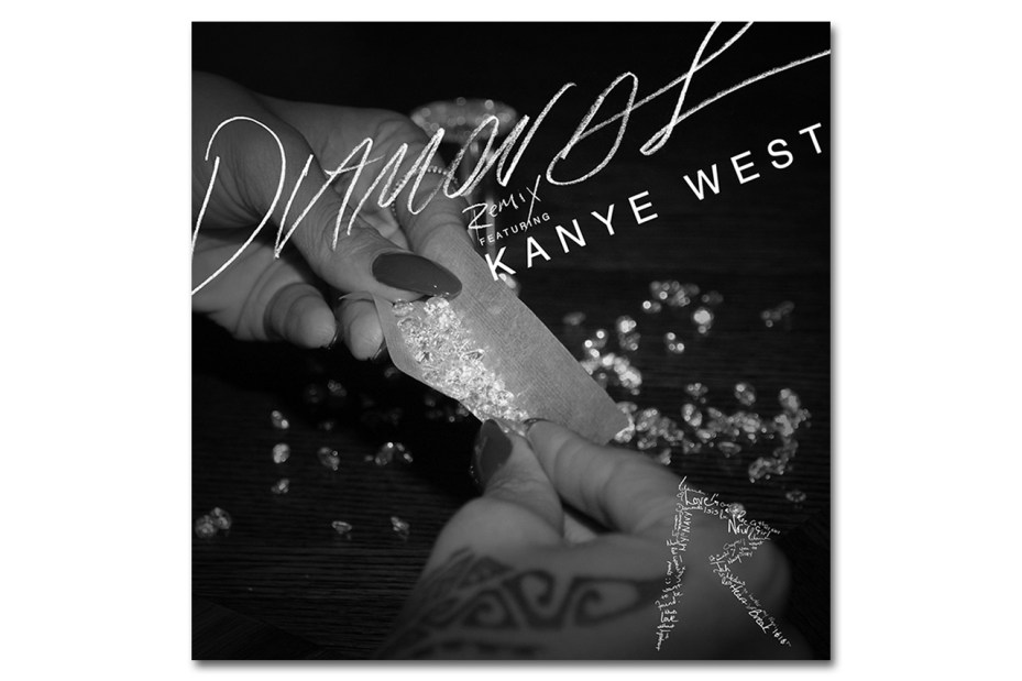 Image of Rihanna featuring Kanye West  Diamonds (Remix)