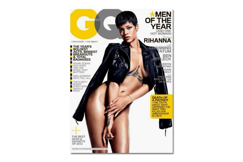 "Image of Rihanna Undresses for the Cover of GQ's 2012 December ""Man of the Year"" Issue"