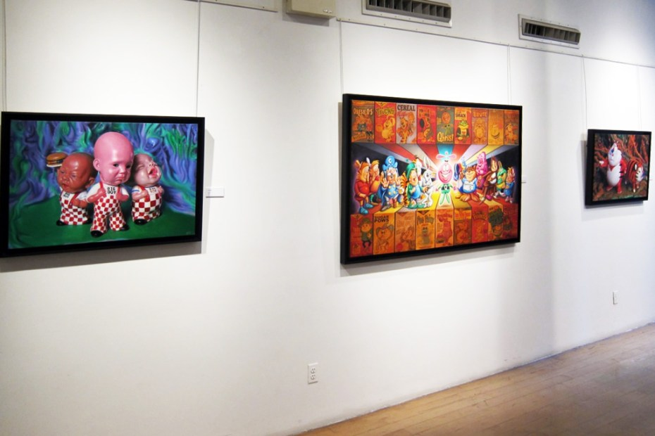 "Image of Ron English ""Crucial Fiction"" @ Opera Gallery"