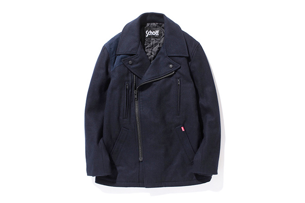 Image of Stussy x Schott Military Pea Coat