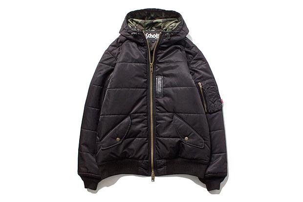 Image of Stussy x Schott MA-1 Puffy Jacket