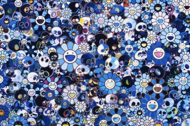 "Image of Takashi Murakami ""Flowers & Skulls"" Exhibition @ Gagosian Gallery Hong Kong"