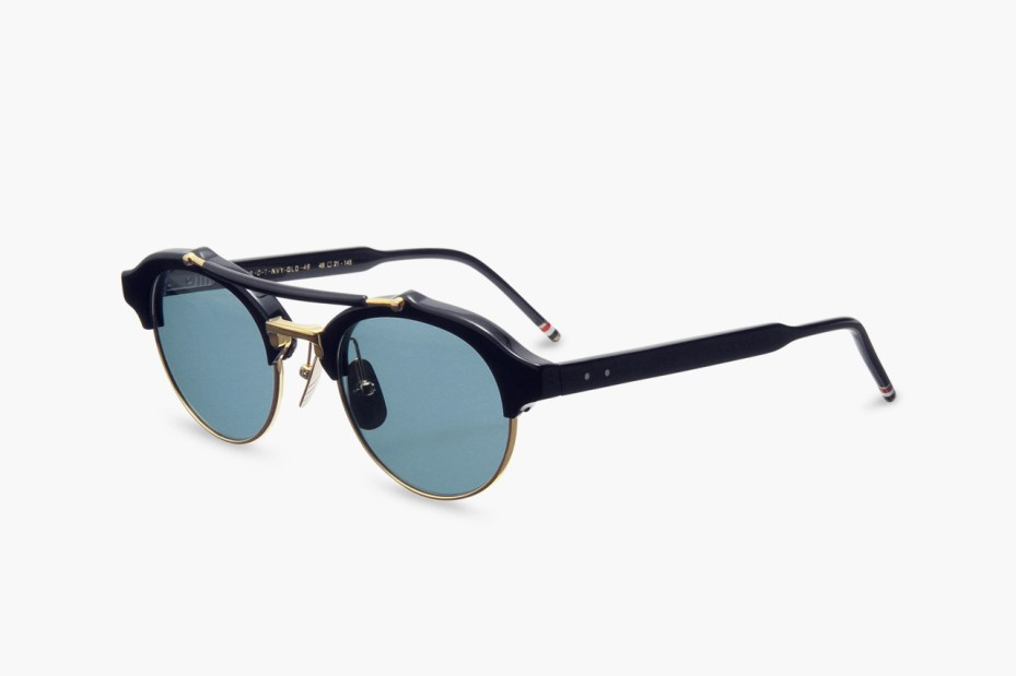 Image of Thom Browne Round Gold Frame Sunglasses