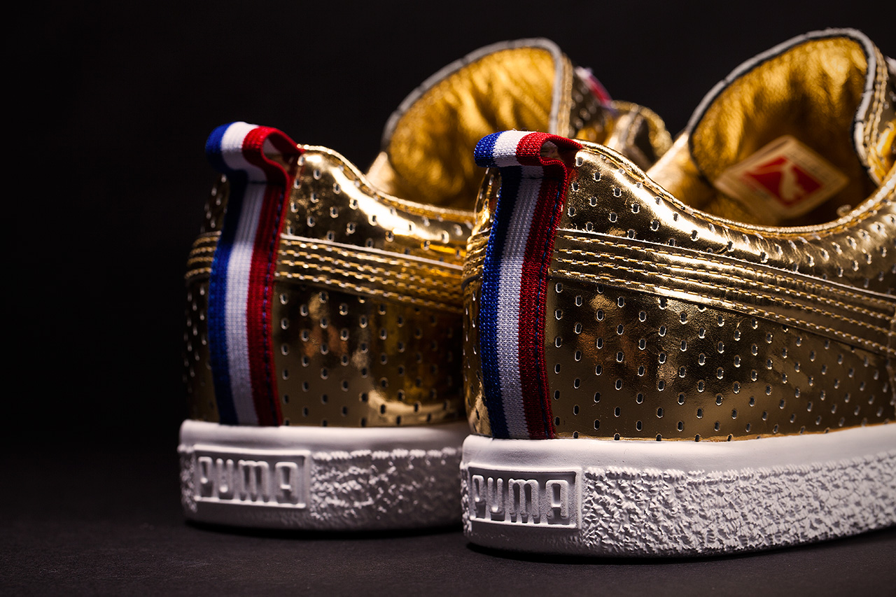 "Image of UNDFTD x PUMA Clyde ""Gametime"" 24k Metallic Gold - A Closer Look"