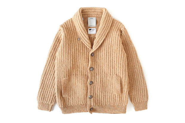 Image of visvim CROCHET CARDIGAN FR (NATURAL DYE)