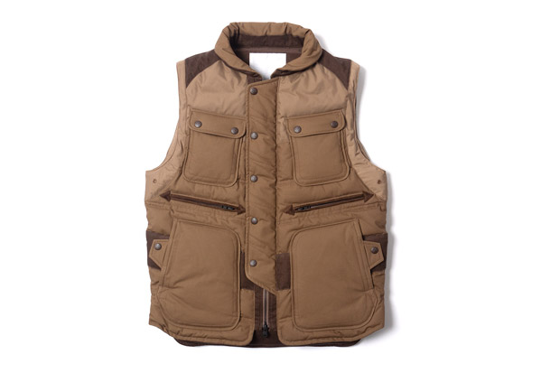 Image of White Mountaineering Cotton Cloth Luggage Down Vest