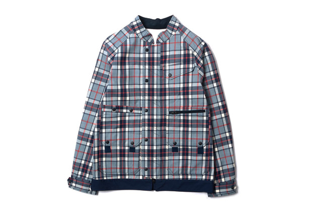 Image of White Mountaineering PERTEX Wool Check Luggage Drizzler Jacket