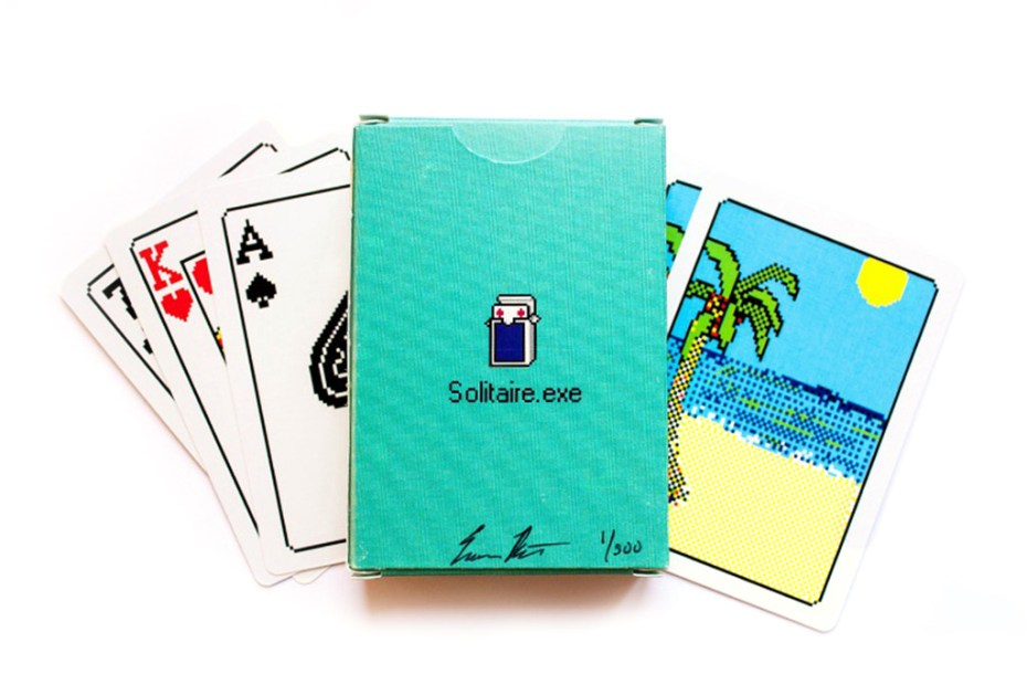 "Image of Windows 98 ""Solitaire.exe"" Bicycle Playing Cards"