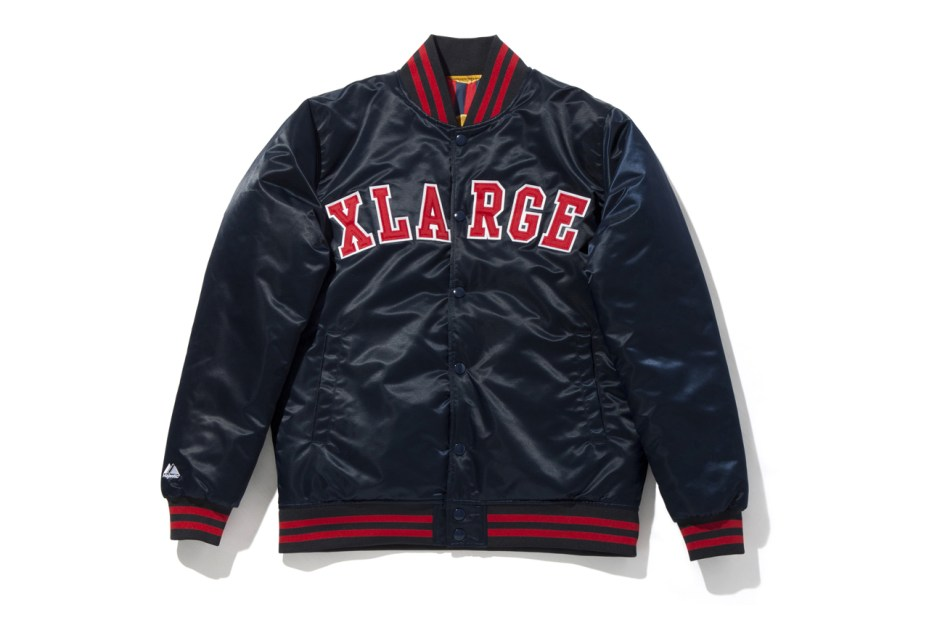 Image of XLARGE x Majestic Reversible Baseball Jacket