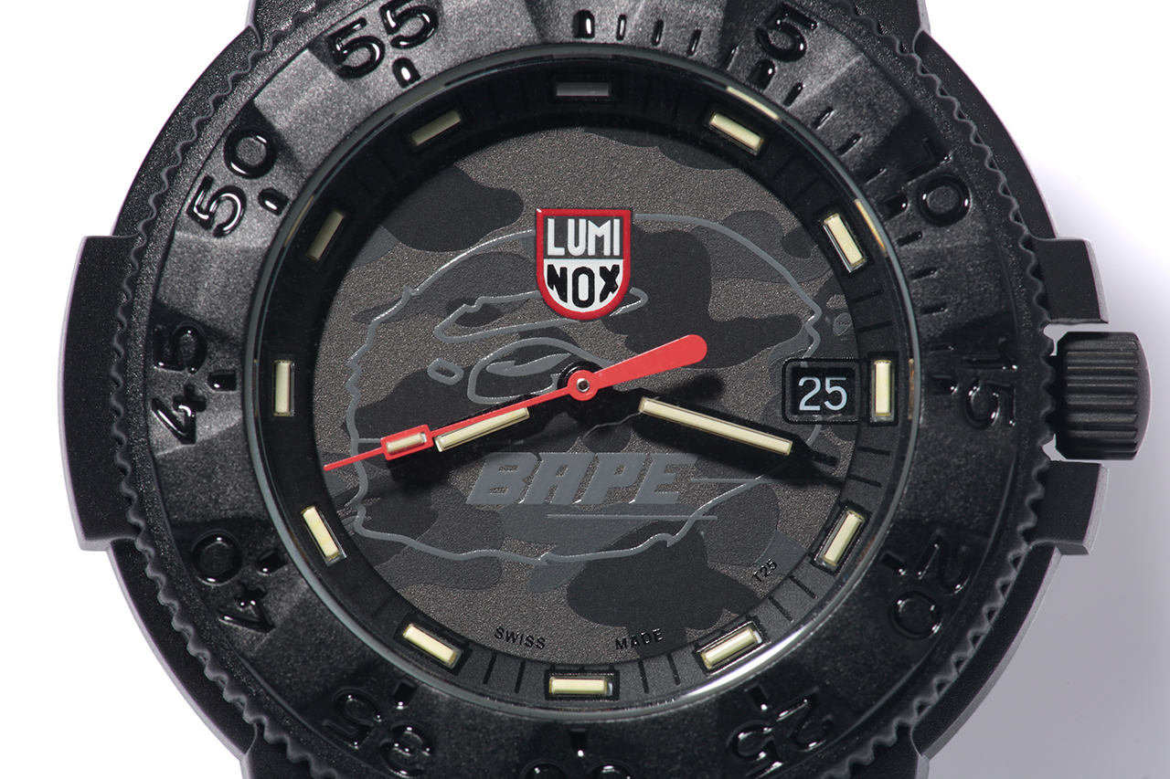 Image of A Bathing Ape x Luminox Navy SEAL Blackout 3001MIL Watch
