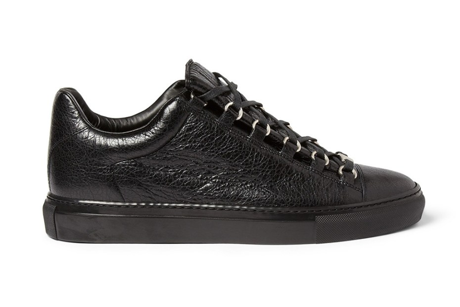Image of Balenciaga Arena Creased Leather Sneakers