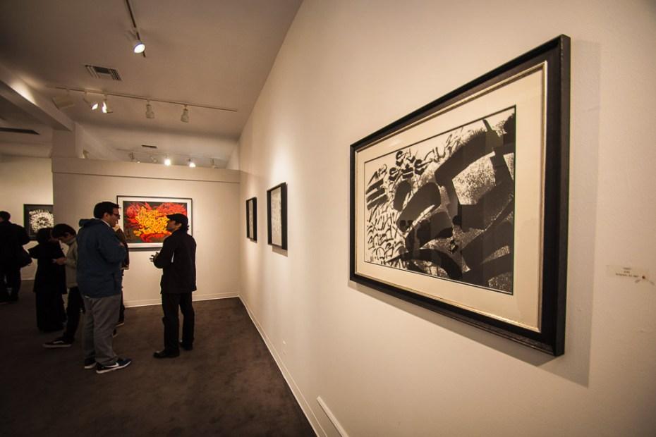 "Image of Chaz Bojorquez ""End of the World"" @ Plaza De La Raza/Boathouse Gallery"